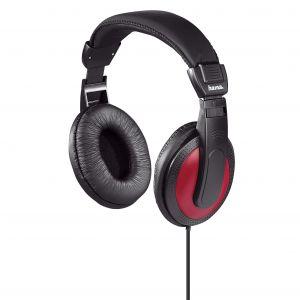 HAMA Hörlur Over-Ear Basic4Music Röd