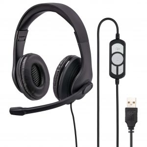 HAMA PC-Office-Headset HS-USB300 Stereo Svart