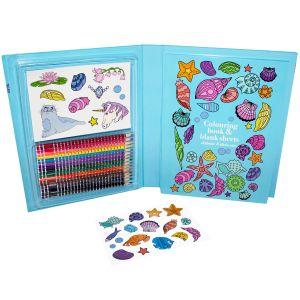 Sense Målarbox med pennor och sticke