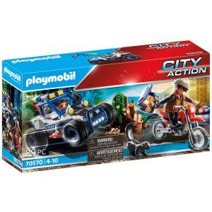 Playmobil Polisterrängbil: Jakten på ska