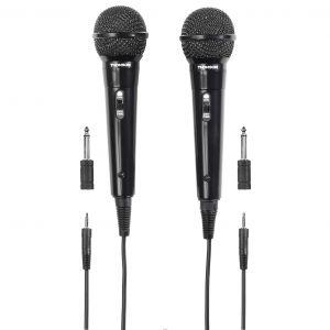 THOMSON Mikrofon M135D Dynamisk Svart 2-pack