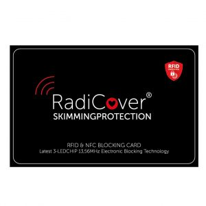 RADICOVER Skim-Block Kort 3-Led RFID NFC Skimmingskydd