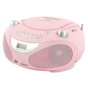 Champion Boombox CD/Radio/MP3/USB Pink
