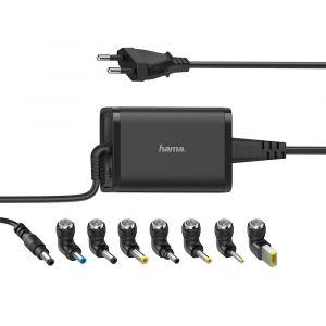 HAMA Nätdel Notebook Universal 100-240V 15-19V/65W 8x Adapter
