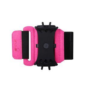 GEAR Sportarmband Premium Universal För Över och Underarm Vridbar hållare Rosa