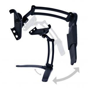 DESIRE2 Tablet och mobilställ Lång Arm Bordsställ och Vägghängd 2in1 Svart