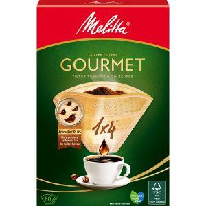Kaffefilter Gourmet 1X4 Oblekta 80st X8dfp