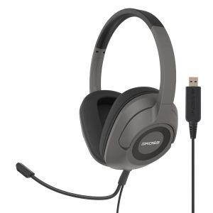 KOSS Headset SB42 USB Over-Ear Mic Remote Svart
