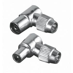 HAMA Kontakt Antenn-set 90° Koax Metal