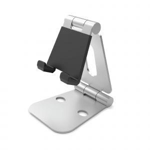 DESIRE2 Skrivbordsställ Dubbelledad Tablets och Mobil Silver
