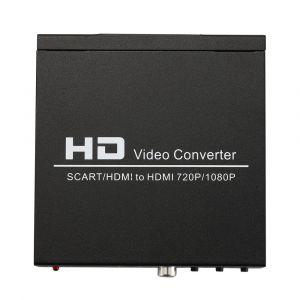 NORTH SCART+HDMI till HDMI HD Converter och Switch Svart