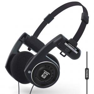 KOSS Hörlur PortaPro 3.0 On-Ear Mic Remote Dark Master
