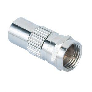 HAMA Adapter SAT F-plug-Coax Hane